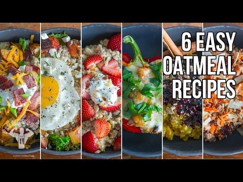 6 Sweet & Savory Easy Oatmeal Recipes / 6 Recetas de Avena Dulce y Salada