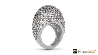 See how the new Azure cutting tool works! - RhinoGold 6.5