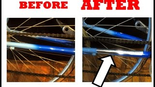 DIY How to make a Chrome Chainstay Protector for Old school Road mountain bike