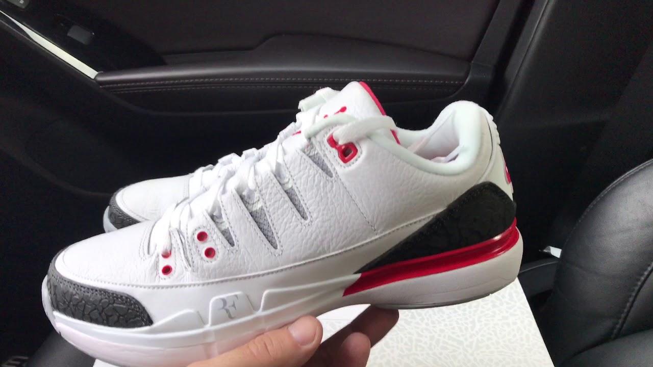 the best attitude 4b919 35301 Nike Zoom Vapor Tour Jordan 3 Roger Federer sneakers