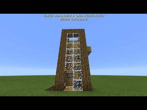 Механизмы Minecraft 0.15.0| Лифт из поршней