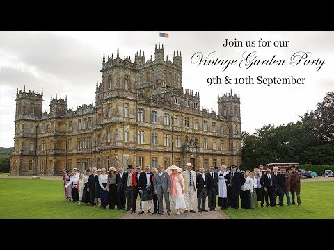 Vintage Garden Party at Highclere Castle
