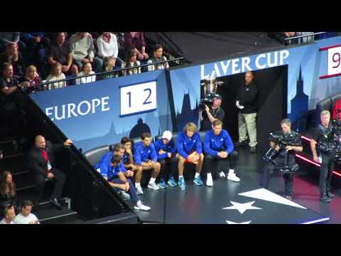 Laver Cup Team Europe's reactions during Federer vs Kyrgios (7)