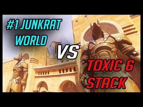 #1 Junkrat WORLD vs TOXIC 6 stack