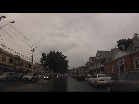 Bridgeport, Connecticut - Drive through City Streets