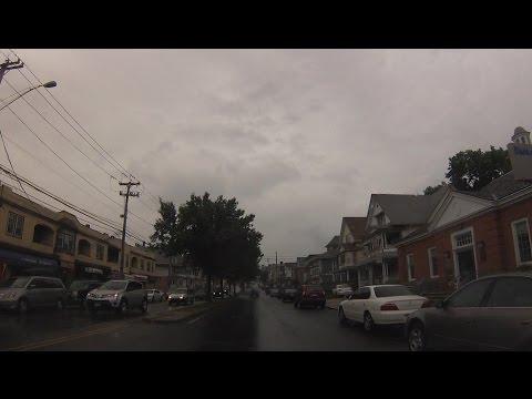 Bridgeport, Connecticut - Drive through City Streets