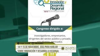 14 y 15 de noviembre, días para hablar sobre innovación y desarrollo regional