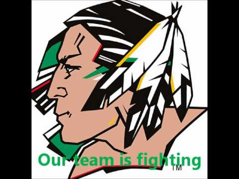 North Dakota Fighting Sioux hockey goal horn (authentic)