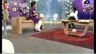 Sahir Lodhi Announcing about Rj Bilawal's song on Geo Tv show 27th dec 2011