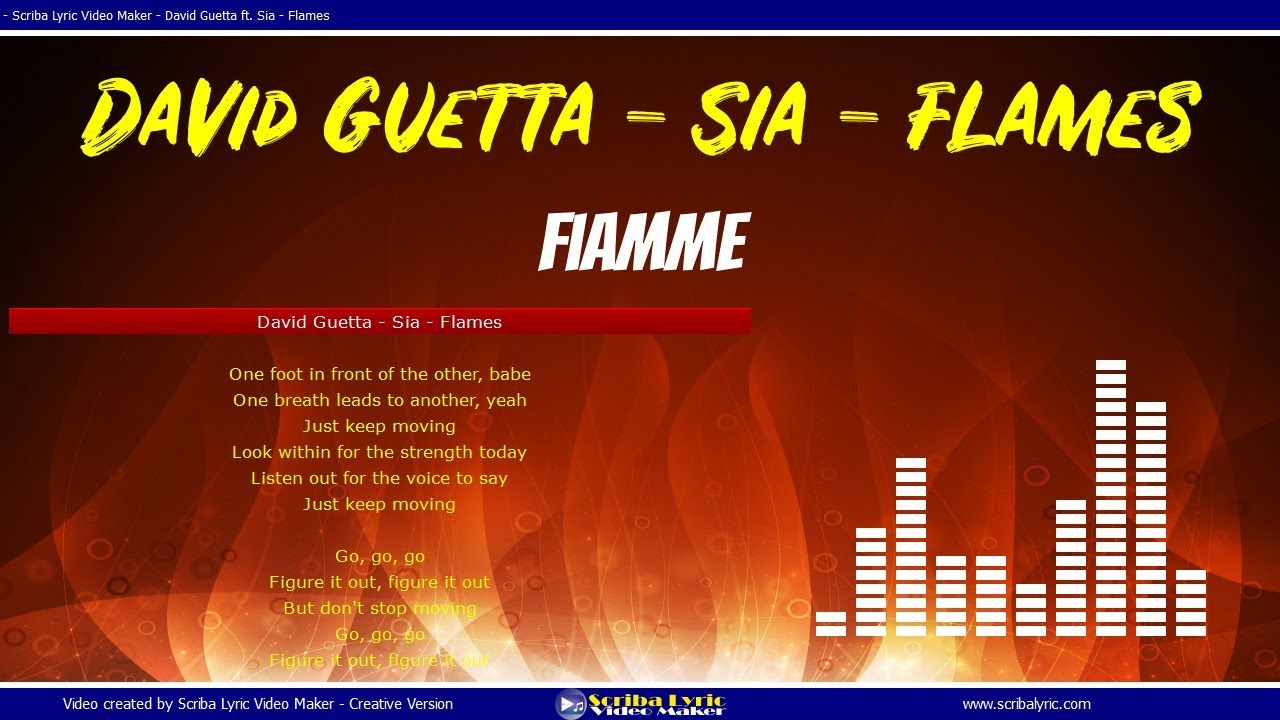 David Guetta Ft Sia Flames Traduzione Italiano Lyrics Inglese Testi Simultanei Youtube