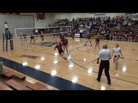 20161110   PLAYOFFS HHS vs  James Wood Volleyball pt1
