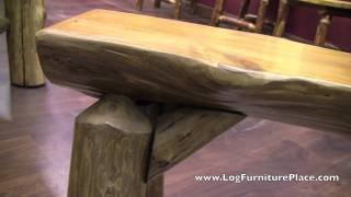 Cedar Lake Half Log Bench From Logfurnitureplace.com