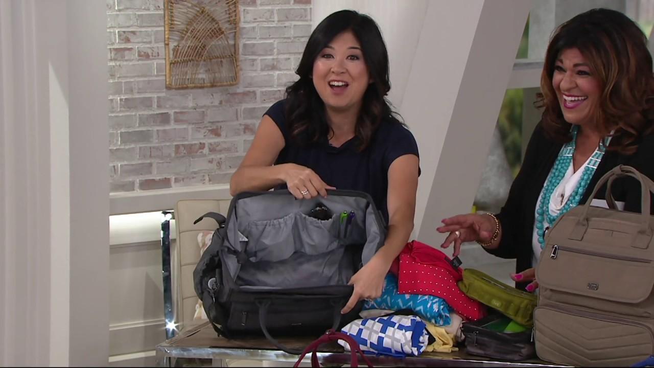 ebf0c7ab4 Lug Crinkle Nylon 3-in-1 Via Travel Bag on QVC - YouTube
