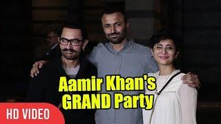 Aamir Khan, Kiran Rao, Advait Chandan At Secret Superstar Success Party | Viralbollywood