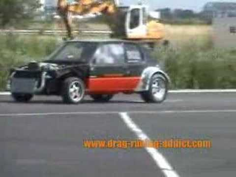 peugeot 205 2jz gte dragster youtube