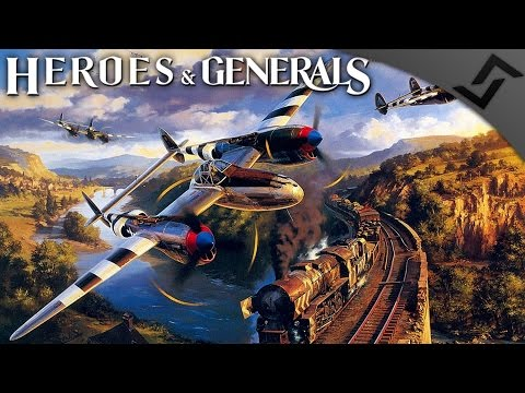 P-38 Lightning WTF - Heroes and Generals - American Heavy Fighter Gameplay