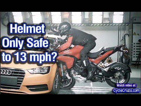 Motorcycle Helmet Only Safe for 13 MPH? | MotoVlog
