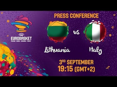 Lithuania v Italy - Press Conference - FIBA EuroBasket 2017