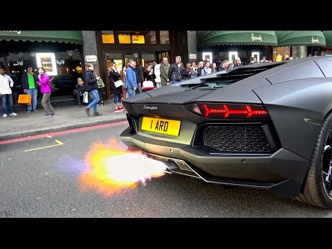 Stealth Aventador W/Capristo Exhaust | Loud Revs & Flames!
