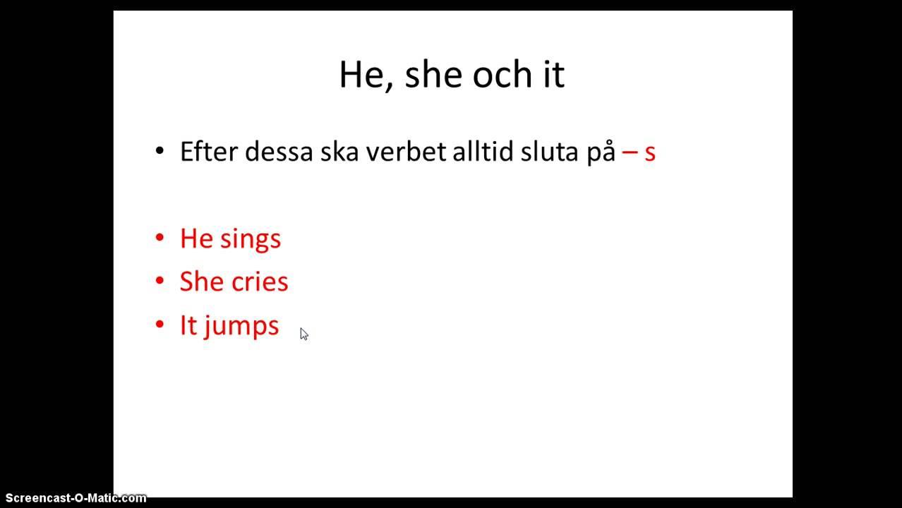 Böja engelska verb i presens