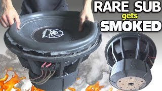 BLOWING a $1000 SUBWOOFER... in 3 Minutes?? RARE 18