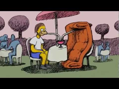 SIMPSON   Bill Plympton Couch Gag from Beware My Cheating Bart