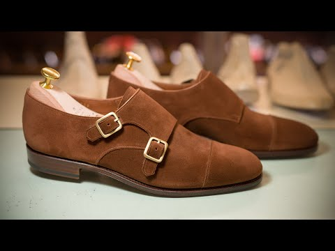 UNLINED DOUBLE MONK STRAP POLO SUEDE 80729 SINEU · Carmina Shoemaker