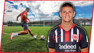 CROSSBAR CHALLENGE w/ Dejan Joveljić (FC Eintracht Frankfurt)