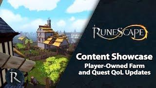 RuneScape Content Showcase (Jan 2019) - Player-Owned Farm & Quest QoL Updates