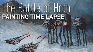 Battle of Hoth Star Wars Painting Time Lapse