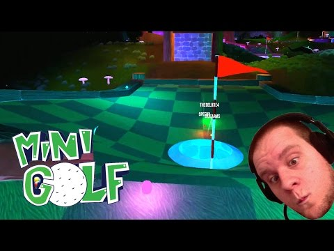 LOW GRAVITY BOUNCY PUCK GOLF! (Golf With Your Friends)