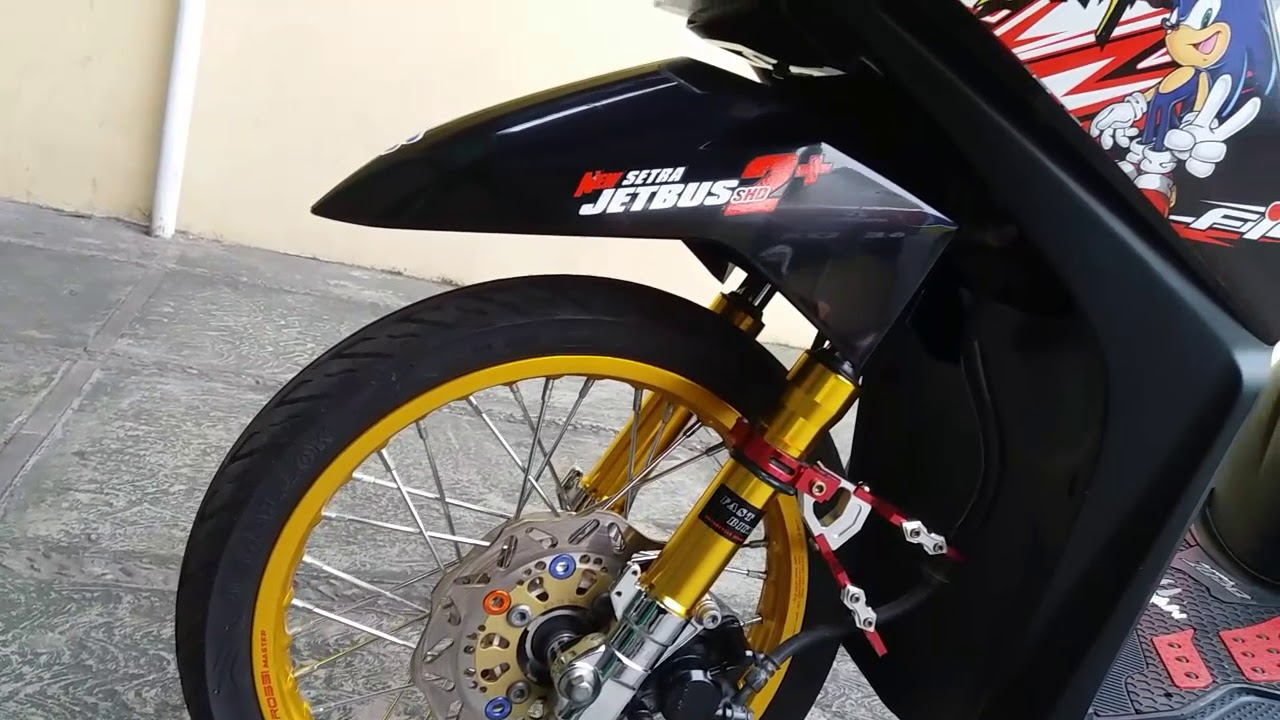 Modifikasi Honda Beat Fi 2014 Hitam By Okan Kane123