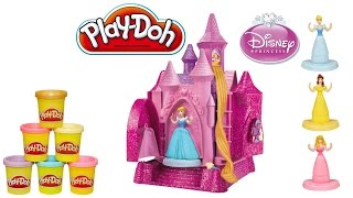 Play Doh Cinderella Belle Aurora Ariel Disney Prettiest Princess Castle Sparkle Playdough