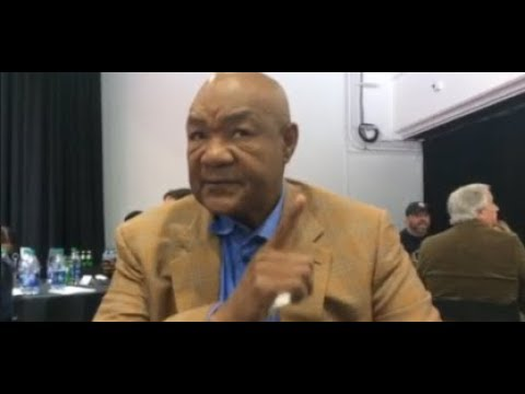 George Foreman Gives Deontay Wilder Advantage Over Anthony Joshua By Using Deer v Bear Analogy