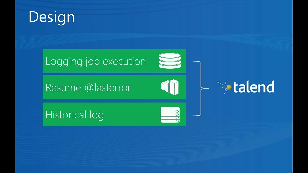 Talend Resume Last Error Job Framework 1 Design Youtube
