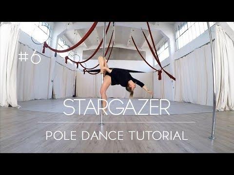 How To Pole Dance #6 STARGAZER Tutorial Beginner