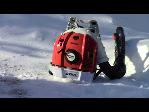Blowing Snow With The Stihl Br600 Magnum Backpack Blower