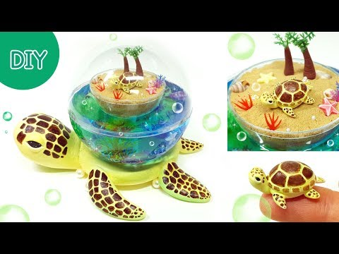 DIY Ball Miniatue - Ocean in the Turtle & Baby Turtle !