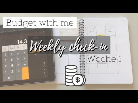 Finanzen organisieren im April 2020 | Budget With Me - Weekly Check-in Woche 1 | deutsch