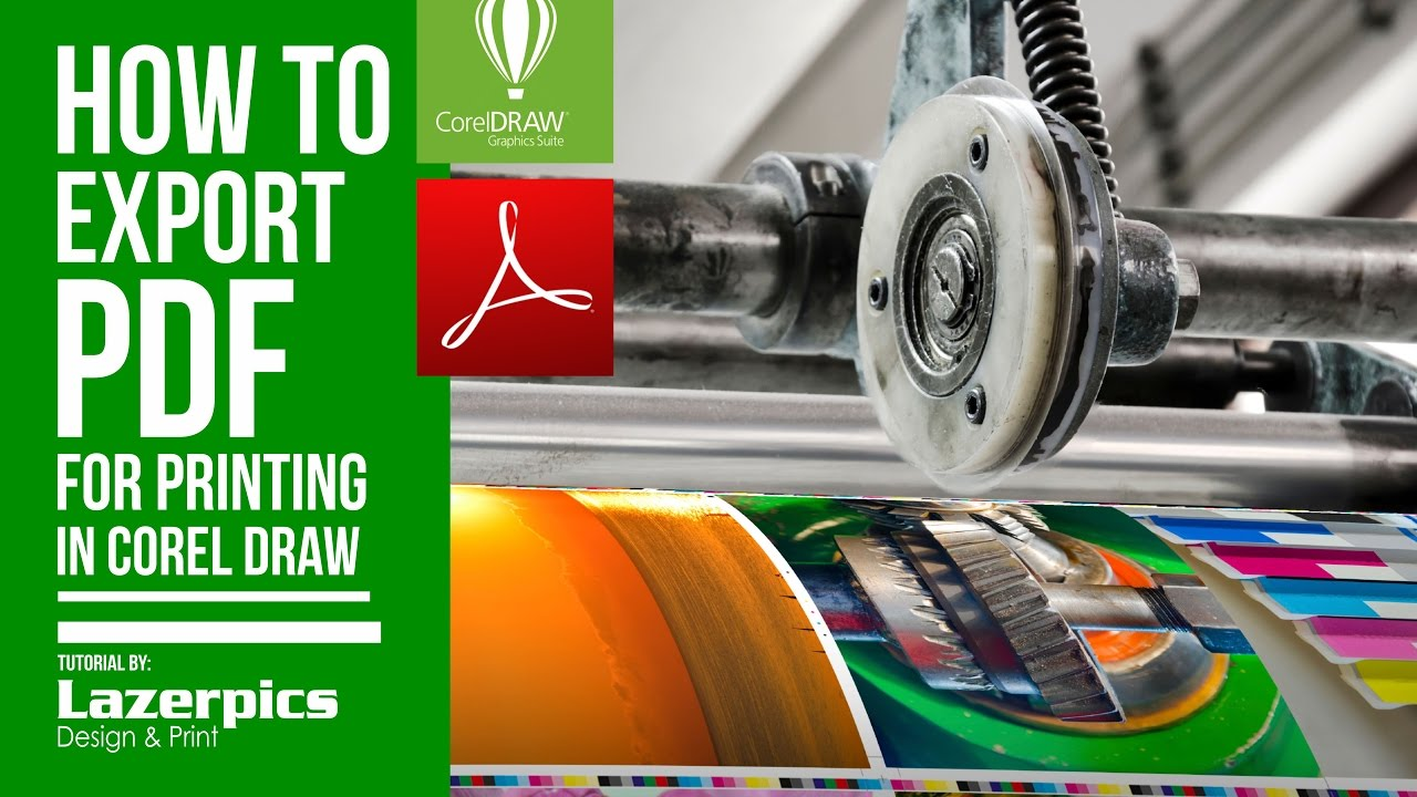 How To Export Prepress Pdf File For Printing In Corel Draw X8, X7, X6, X5,  X4