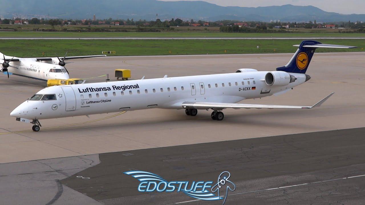 Lufthansa Regional - Bombardier CRJ-900LR D-ACKK - Takeoff from Zagreb  Airport LDZA/ZAG