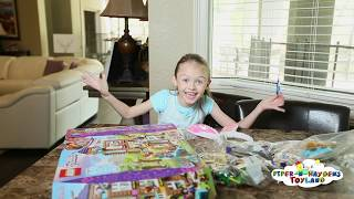 Piper Building her LEGO Friends