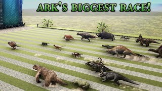 Which one is ARKs FASTEST Creature - GIANT RACE with all Dinosaurs  Cantex
