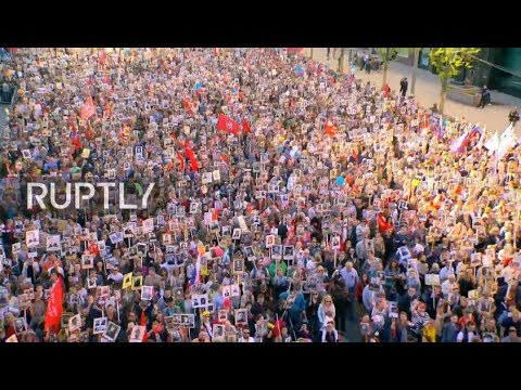 Live: Immortal Regiment marches in Red Square to commemorate Victory Day