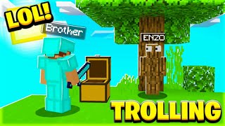 *TROLLING MY TWINS BROTHER* IN MINECRAFT || HINDI || GAMEPLAY ||