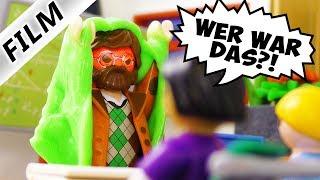 Playmobil Film deutsch | STREICH AN MATHELEHRER - Schleim-Dusche in Klasse Kinderfilm Familie Vogel
