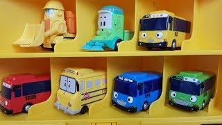 Tayo the Little Bus Toys in School Bus Carry Case Video for Children