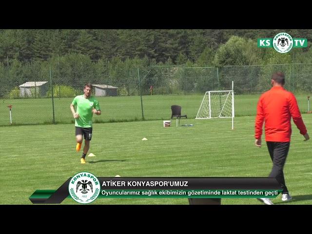 Atiker Konyaspor'umuzda oyuncularımız laktat testinden geçti