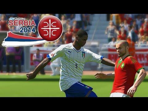 Morocco vs. Italy | jmc World Cup Serbia 2014 | Pro Evolution Soccer 2014 (PES 2014)