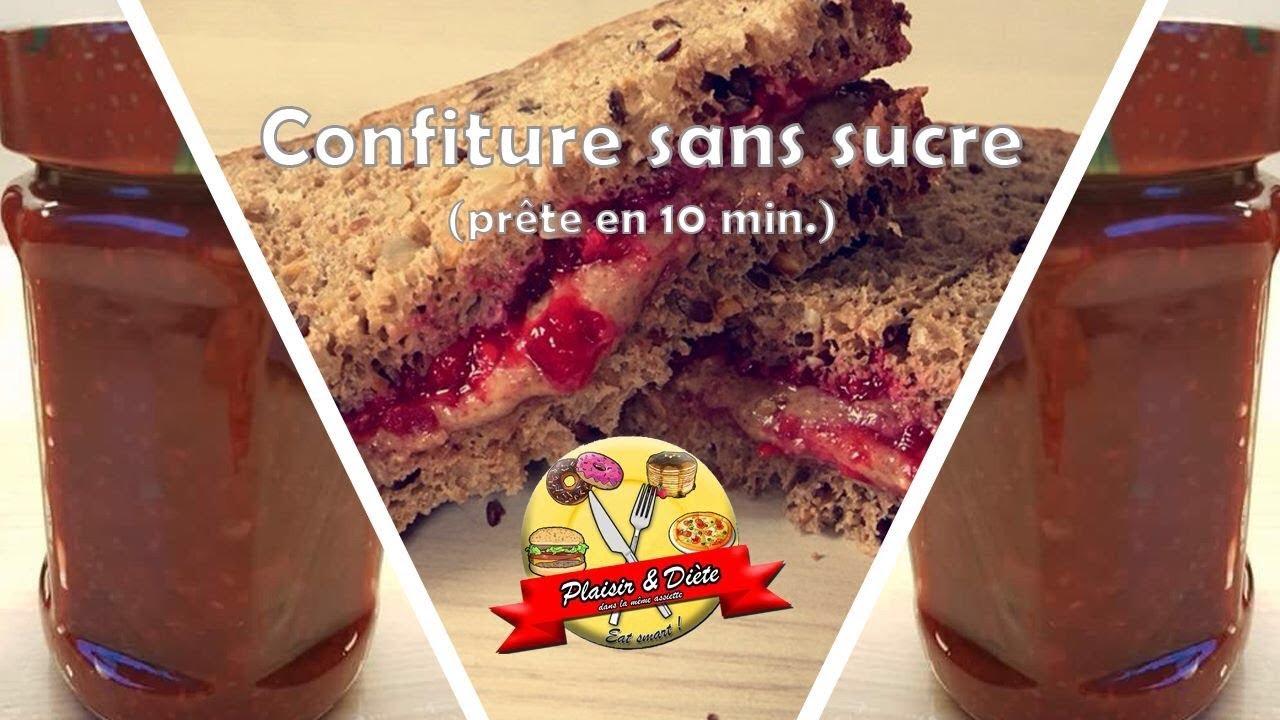 Plaisir Diete Confiture Sans Sucre Prete En 10 Minutes Youtube